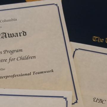 Photo of UBC certificates
